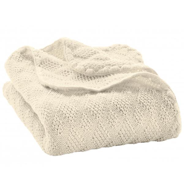 DISANA - Couverture en laine Mérinos - Naturel
