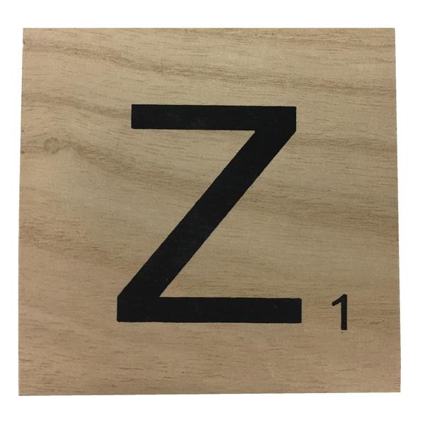 Zôdio - Lettre Z scrabble en bois 10x10x0,6cm