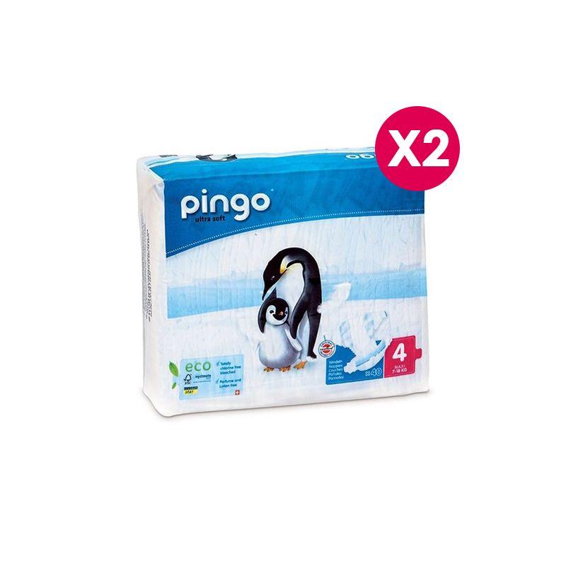 Pingo - Couches écologiques Pingo Maxi Taille 4 - 7/18 Kg