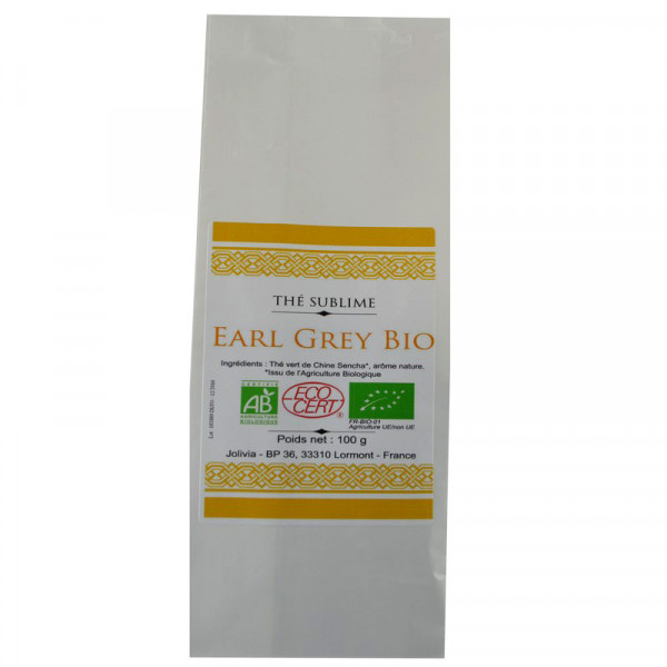 Jolivia - Thé Vert Earl Grey Bio - 100 g
