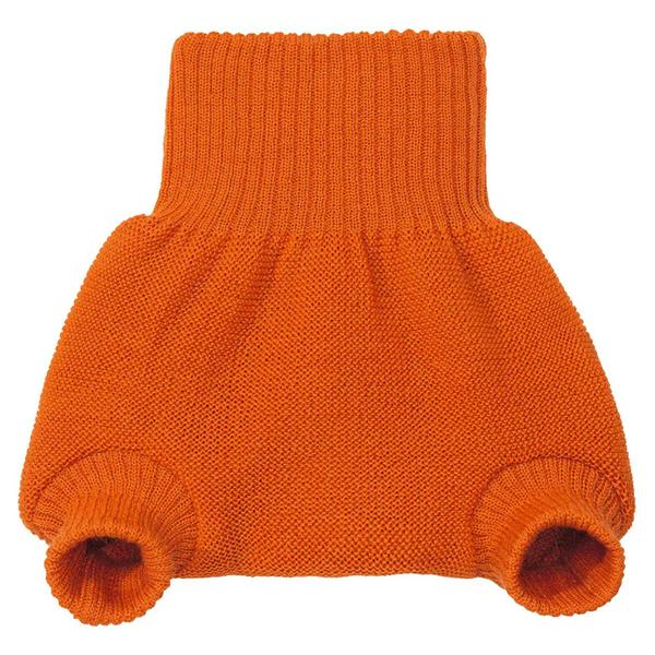 DISANA - Culotte de protection orange en laine Mérinos 2-3 ans