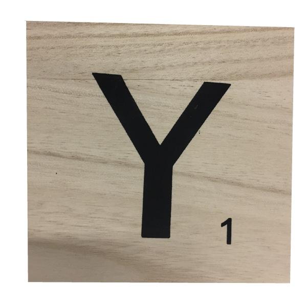 Zôdio - Lettre Y scrabble en bois 10x10x0,6cm