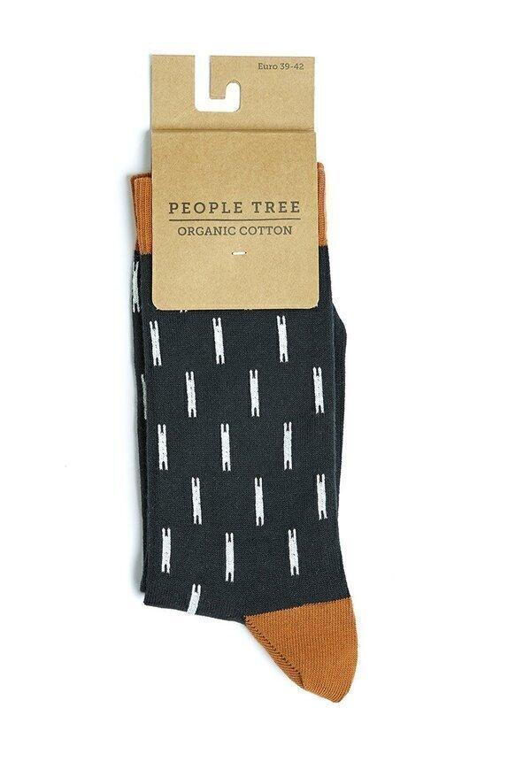 People Tree - Chaussettes marron - Mini Ikat P39-42
