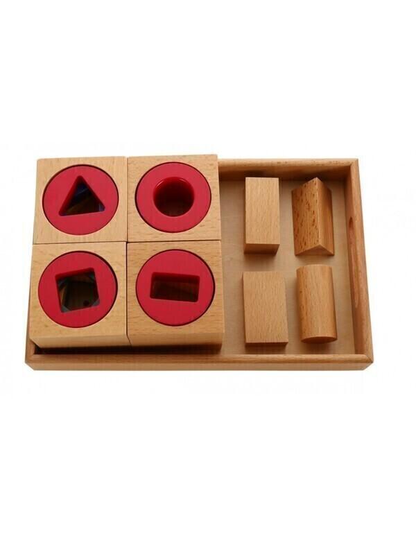 MontessoriSamuserAutrement - Blocs de formes multiples avec plateau