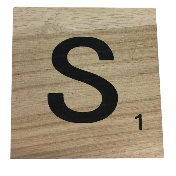 Zôdio - Lettre S scrabble en bois 10x10x0,6cm