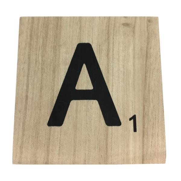Zôdio - Lettre A scrabble en bois 10x10x0,6cm