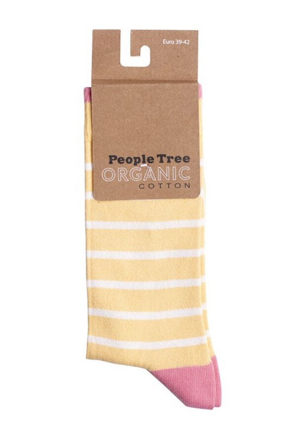 People Tree - Chaussettes coton bio - Striped P39-42