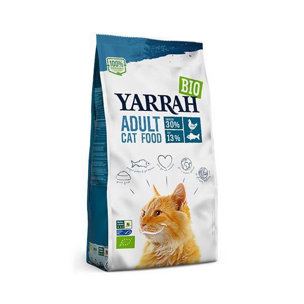 Yarrah - Croquettes pour chat Poulet et Poisson 800g