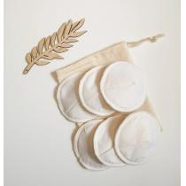 Memamnali - Coussinets d'allaitement imperméable en coton bio et pochon bio