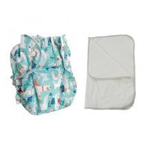 APPLECHEEKS - Kit couche lavable - ENFANT - Taille 3 (14-30kg) - Lama Nation