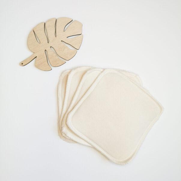 Memamnali - Grandes lingettes lavables bébé bi face en coton bio
