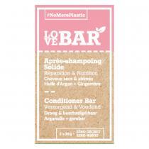 Love Bar - Après-Shampoing Solide Réparation et Nutrition Argan et Gingembre