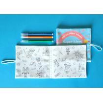 Coq6Grue - Cahier de coloriage lavable tissu bio