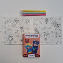 Coq6Grue - Cahier de coloriage lavable + jeu de cartes à créer