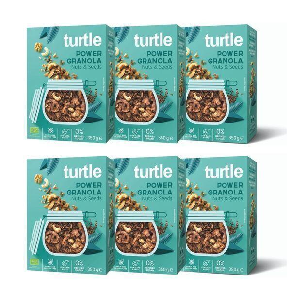 Turtle - 6 x POWER Granola Noix et Graines
