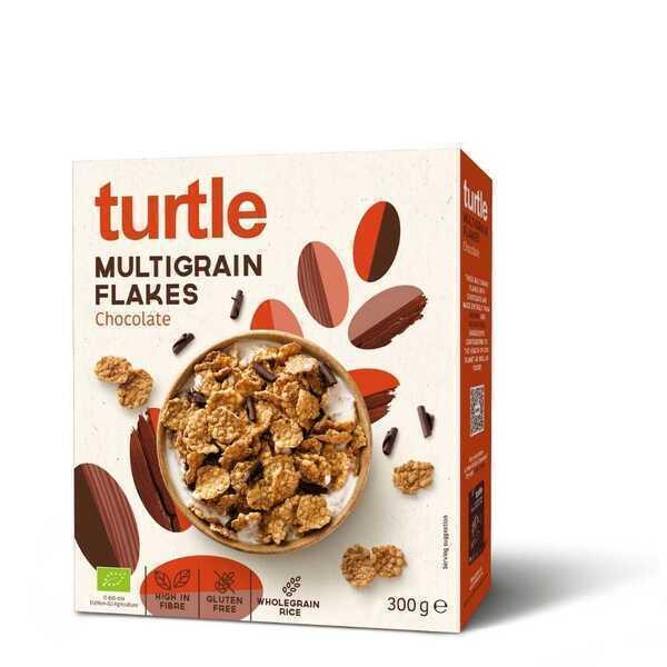 Turtle - 8 x Flakes Multigrain au chocolat noir