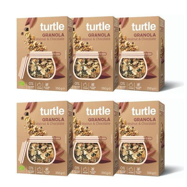 Turtle - 6 x Granola Noix et Chocolat