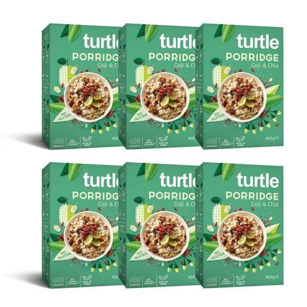 Turtle - 6 x Porridge Bio Goji et Chia