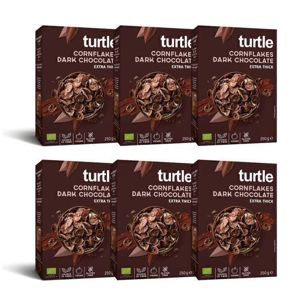 Turtle - 6 x Cornflakes Chococlat Noir