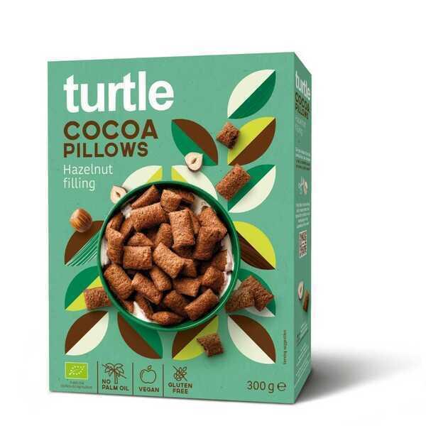 Turtle - 12 x Coussins au Cacao avec coeur de noisette