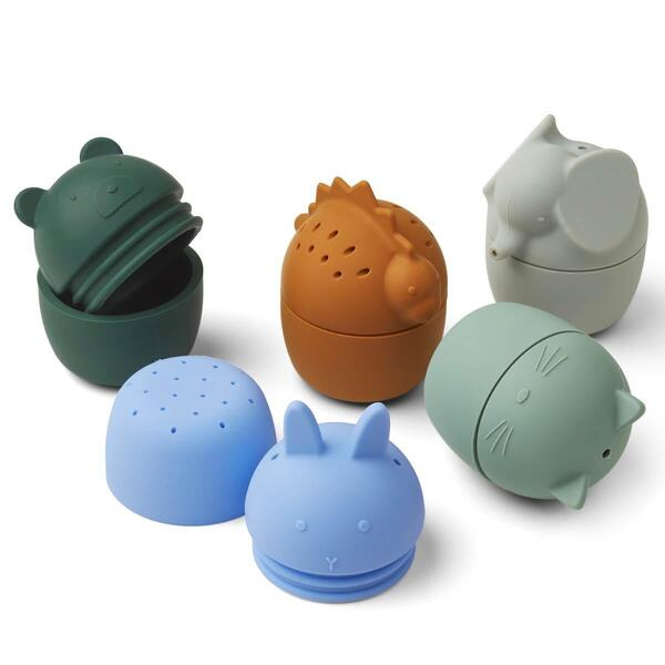 Liewood - 5 jouets de bain GABY Blue multi mix