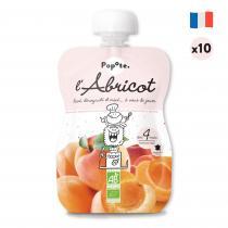 Popote - L'Abricot - Lot de 10 - Dès 4 mois- compotes en gourde pour bébé