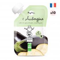 Popote - L'Aubergine - Lot de 10 - Dès 4 mois-purées en gourde pour bébé