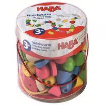 Haba - 72 big wooden bead assortment