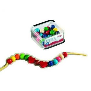 Haba - 42 coloured heart bead assortment