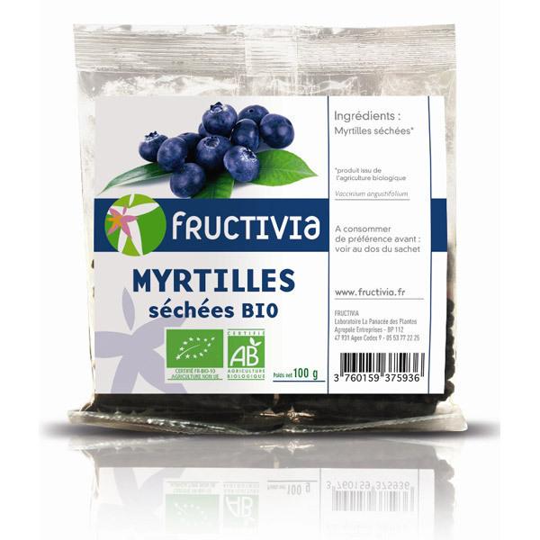 Fructivia - Myrtilles sechees BIO 100g