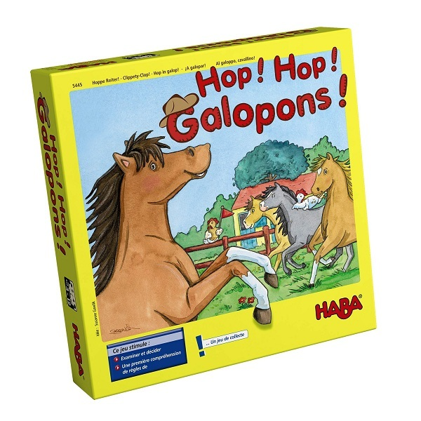 Haba - Jeu de société Hop Hop Galopons - Dès 3 ans