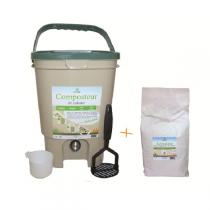 Ecovi - Kitchen compost bin and Activator