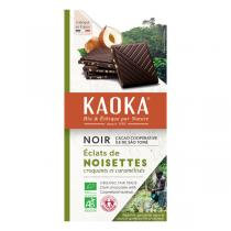 Kaoka - Tablette chocolat noir 66% Noisettes 100g
