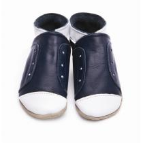Starchild - Pantofole in cuoio Starchild Junior in Navy and White