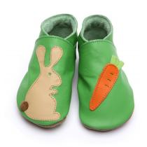 Starchild - Pantofole in cuoio Starchild Rabbit and Carrot Green