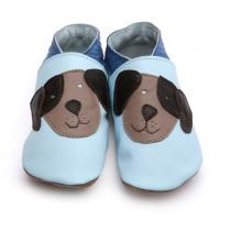 Starchild - Pantofole in cuoio Starchild Pooch in Baby Blue