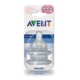 Avent - Airflex Variable Flow Teat 3 months +