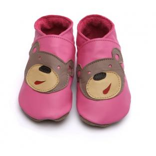Starchild - Bear Face Candy Pink Slippers