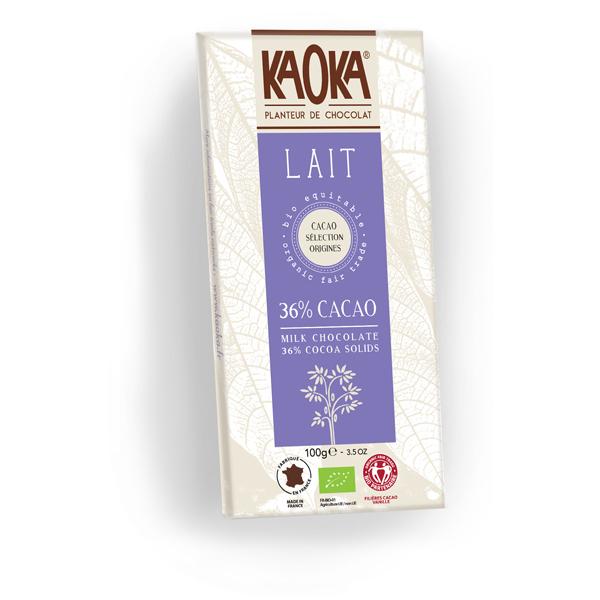 Kaoka - Tablette chocolat lait 38% 100g