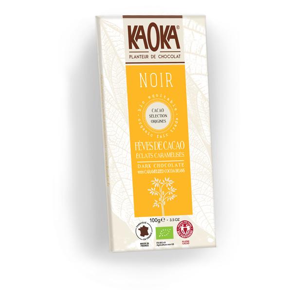 Kaoka - Tablette chocolat noir 70% Fèves Cacao 100g