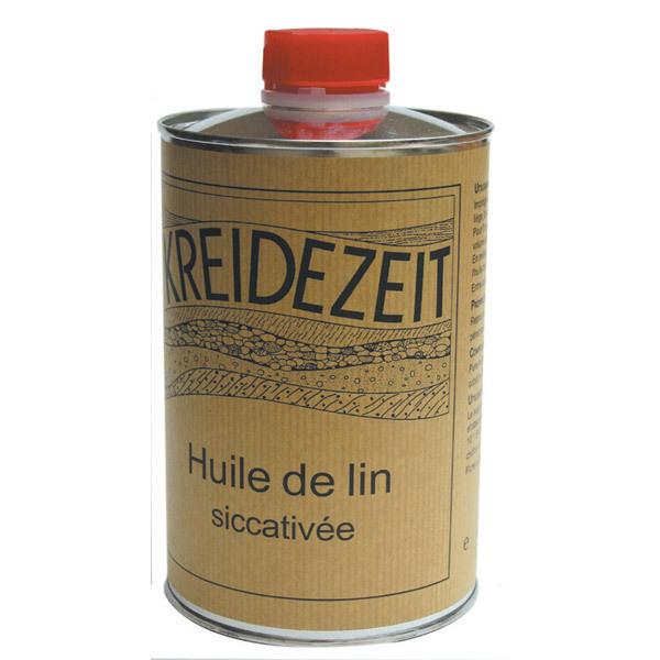 Huile de lin siccativ e 1l kreidezeit acheter sur for Huile de lin meuble