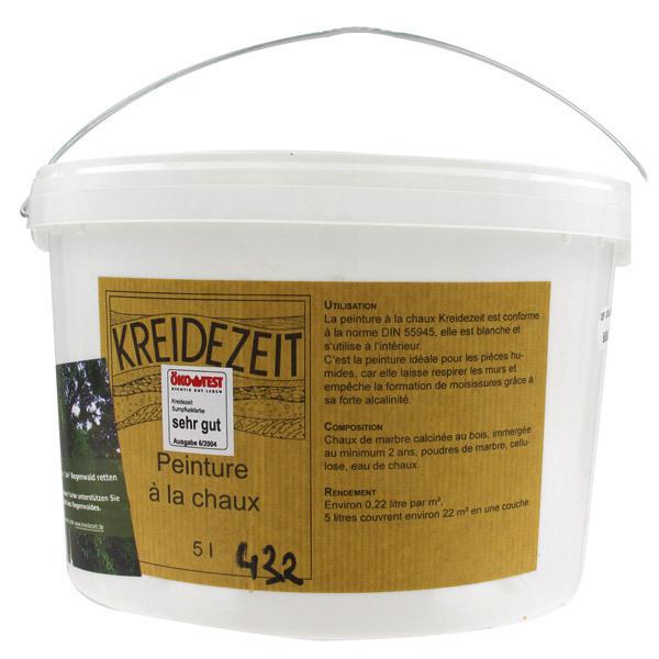 Peinture la chaux 5l kreidezeit acheter sur for Peinture a la chaux exterieur