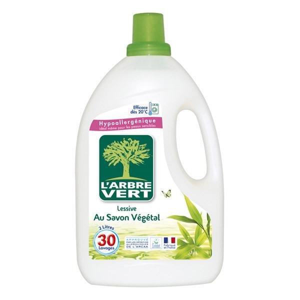 lessive liquide savon v g tal 2l l 39 arbre vert acheter sur. Black Bedroom Furniture Sets. Home Design Ideas