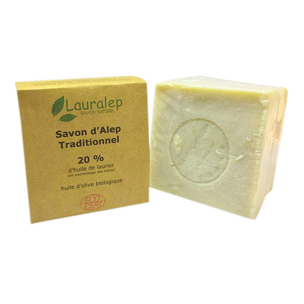 Lauralep - Savon d'Alep traditionnel bio 20% laurier 200g