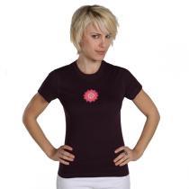 Chin Mudra - T-Shirt Yoga Chakra Bio-Baumwolle Pflaume