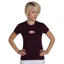 Chin Mudra - T-Shirt Yoga Lotus Bio-Baumwolle Pflaume