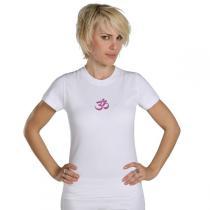 Chin Mudra - T-Shirt Yoga Om Bio-Baumwolle Weiß