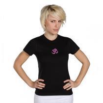 Chin Mudra - T-Shirt Yoga Om Bio-Baumwolle Schwarz