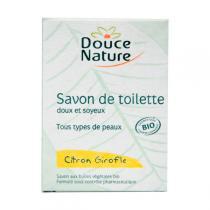 Douce Nature - Savon de toilette Citron Girofle Bio 100g