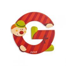 Janod - Lettre G Clown en bois